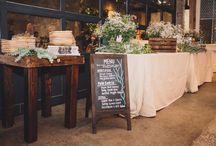 Buffet Decor Wedding Inspiration / Hudson Valley Weddings, Catskills Weddings / Inspiration from Hudson Valley Vintage Rentals. Rustic Weddings, Vintage Weddings, Boho Weddings, Eclectic Weddings, Country Weddings.
