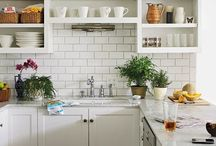 Kitchen Ideas / Inspiration and space saving ideas for remodeling my very small kitchen.