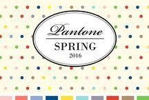 Farben / Farbpalette Frühling 2016, Textil - Pantone, Modetrends