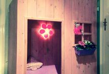 Made by us / Some furniture, decor, etc made in our little carpentry shop.