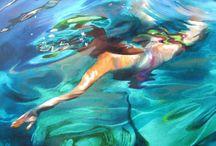 Swim painting!
