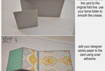 Fun (Folded) Cards / Kaarten in een leuke vorm gevouwen of met een interactief detail.