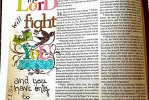 Bible Journaling / Beautiful art from scripture, plus helps with memorizing scripture.