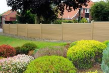 Eurocell Composite Fencing / Composite Fencing is the environmentally friendly, attractive and maintenance-free alternative to timber fencing. Manufactured from Wood-Grain, a composite comprising 75% recycled material, Composite Fencing has all the look and feel of timber without any of the hassle. Plus it has the durability of concrete without the weight and health and safety concerns. Composite Fencings Wood-Grain consists mainly of recycled PVC-U, coated with wood composite.