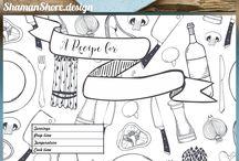 ● Recipe card templates / Meal planners / Recipe card templates / Meal planners / Printable recipe pages, meal plan calendars