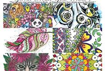 Global doodle Gems volume 6 / 60 beautiful drawings done by 10 international artists. Examples of colored drawings from our published books