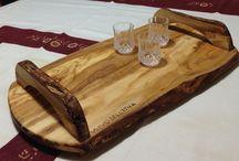 R&G Le nostre creazioni / Mobili su misura,Vassoi e taglieri in legno d'ulivo oggettistica in legno di vario genere