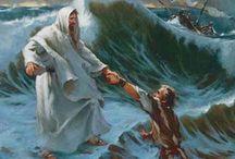 Godsdienst / Jezus die over het water loopt  door Jeroen & Davine