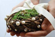 Обручальные кольца на деревенской свадьбе
