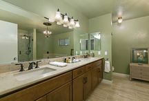 Bathroom Remodel Carlsbad / This bathroom remodel was built for an elderly couple who lives in Carlsbad, CA.  It was designed specifically to their needs which included the desire for a makeup vanity, a larger walk in shower, and more modern features such as quart countertops.