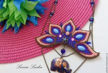 Larisa Laska beaded necklace