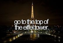 Things to do before I die.  / Building my bucket list.
