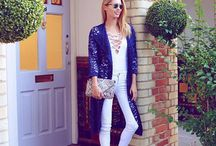 BLOGGER LOVE: / Pictures that bloggers have posted of them looking pretty in their Closet pieces.