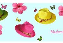 Straw hats by Mademoiselle Slassi