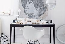 Monochrome / Black and white home decor inspiration ideas
