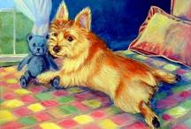 Norwich Terrier Dog Art / My Art of the Norwich Terrier.
