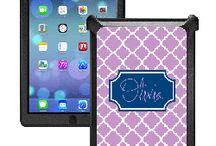 Monogrammed iPad Otterbox Defender Cases