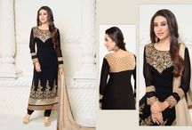 Karishma Kapoor Long Salwar Suit / Top:- 60 Gram Bottom:- Shantton Inner:- Shantton Dupatta:- Nazneen Size:- Up to 42 chest size Occison:- Party wear Work:- Pure embrodairy  Wash:- Dry Clean  Shipping Time:- Ready to ship Weight:- 1 kg For inquiry Call or Whatsapp @ 09173949839
