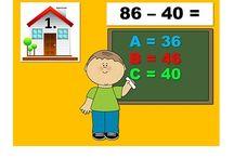 Matematika - interaktívne / cvičenia, hry na opakovanie, utvrdzovanie učiva; odkaz na web stránku v popise