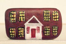House#painted stones#piatra pictata