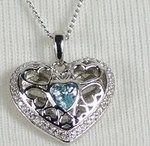 Herzanhänger mit Kette Silber 925