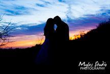 Wedding Sunset Photos / Wedding sunset photo's taken by Myles Studio Photography.