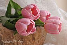 Kvety z marcipánu