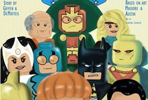 lego Dc / cover based on Justice League cover (Giffen /DeMatteis era) 1987