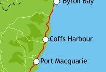 Høstferie 2014 - Australia / Planlegge høstferien i Australia. Kjøre mellom Sydney og Gold Coast
