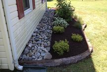 Paving and rock garden