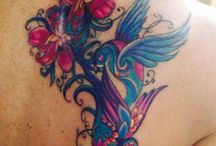 Cover up tattoo / Birds and flowers tattoo