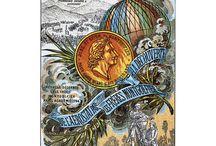 Histoire de l'aérostier / postcards