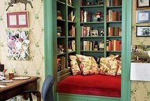 Bookshelves & Reading Places / Cozy, outrageous and clever ideas to store, worship and enjoy your books.