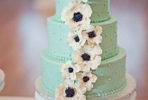 Cake / Mint and gold