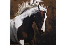 Horses / Fun fact: Horses have bigger eyes than any other mammal that lives on land. Put your eyes on these great horse pieces.