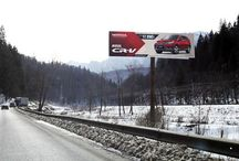 Unipoluri 14x4m (panouri publicitare outdoor) / Outdoor advertising billboards (bulletin boards). Panouri publicitare format unipole sign 14x4m