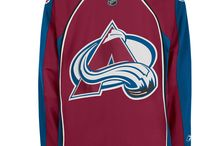 Colorado Avalanche - Official NHL Hockey Jerseys / We are the leading manufacturer of professional sports lettering & numbering and we have been selling officially licensed NHL jerseys and apparel via the internet since 1999. Visit: CoolHockey.com for more!