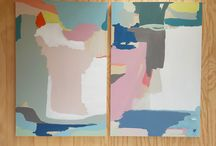 Large abstract paintings by Deborah Moss