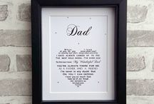 Dad / unique cards and gifts for Dad on Father's Day or his birthday