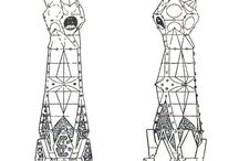 Antonio Gaudi / Architectural  drawing