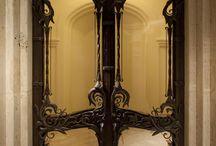 Iron doors art nouveau