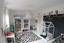 MY SCANDINAVIAN KIDSROOM/ Nasz pokój dziecięcy / black & white, scandinavian design, Kidsroom, diy/ Biało-czarny wystrój, skandynawski styl, pokój dziecięcy, tablica, stare szafy