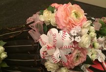 Love for Baseball Roses / Baseball roses made by Sherry's Petals