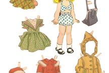 Paper Dolls / Collection of vintage and non-vintage paper dolls
