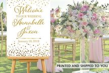 Wedding Banners & Signs / Wedding Banners, Wedding Signs, Wedding Cake Backdrops and More