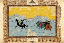 Miniature moderne / Le illustrazioni sono il portfolio della tesi di un giovane artista turco, Murat Palta. L'idea è quella di illustrare alcuni tra i film più famosi: un misto tra miniatura ottomana e grafica contemporanea.