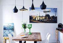 Décoration Salle à manger / Les dernières inspirations tendances pour votre salle à manger. Quel type de meuble, couleur, revêtement, et décoration choisir. Comment aménager une salle à manger contemporaine et à la fois fonctionnelle