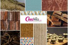 Revue de blog #68 : Douceur d'un été indien / Ethnique - Crochet - Matière brute - Bois - Laine - Marron - Lin