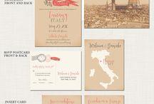 wedding invitation - italy