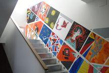 Taller Espacio en Blanco. Agosto 2017 / Fotografías del taller de pintura mural que hemos organizado en agosto de 2017 bajo la dirección de la artista Elisa Rodríguez.